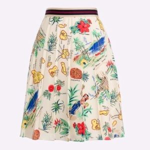J. Crew l Vacation Travel Skirt Hawaiian Print